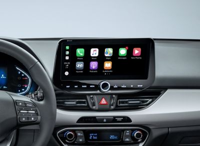 "The new i30 new air vents, and its 10.25"" AVN touchscreen"